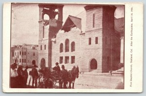Oakland CA~First Baptist Church~Ladies & Gents View Earthquake Damage~April 1906