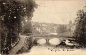 CPA EYMOUTIERS Vue générale. Pont de NEDDE (390648)