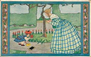 Artist Signed - Rie Cramer Kindderdeuntjes uit Grootmoeder Tijd Art Deco 04.56