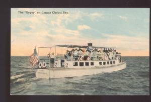 THE BYPSEY EXCURSION BOAT CORPUS CHRISTI BAY TEXAS VINTAGE POSTCARD