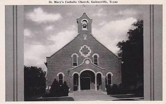 Texas Gainesville St Marys Catholic Church / HipPostcard