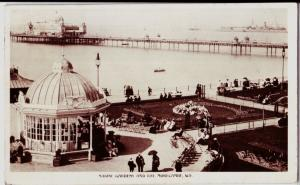1911 MORECAMBE Lancaster Postcard England Lancashire Marine Gardens Bay RPPC