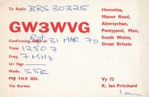 Wales Pontypool Abersychan Amateur Radio Club QSL Vintage Welsh Postcard