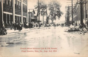 LPS24 Erie Pennsylvania 1915 Flood French St. 11th & 12th Streets Flood District