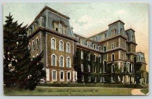 Easton Pennsylvania~Lafayette College~Pardee Hall~Corner View~1908 Rotograph