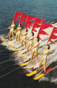 Women Precision Skiing, Aquamaids, CYPRESS GARDENS, Florida, 40-60's