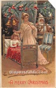 Santa Claus Old Vintage Postcard Santa Claus Postcard Brown Suit