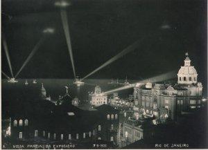 RP: RIO DE JANEIRO, Brazil, 1900-10s; Vista Parcial Da Exposicao at Night