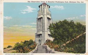 The Observation Tower in Beautiful Washington Park, Michigan City, Indiana, 1...