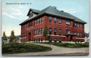 Berlin New Hampshire~Marston School~Circle Drive~Neighborhood Homes~1915 PC