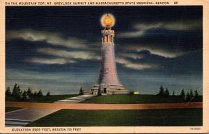 Massachusetts My Greylock Summit & Massachusetts State Memorial Beacon Curteich