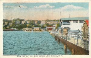 Lake Geneva New York~Seneca Lake~Long Pier & Yacht Club~Hotel Resorts~1916 PC