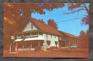 1489 - CRANBERRY LAKE NY 1960s Park Restaurant. ESSO Gas Station. Car