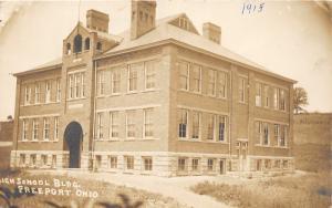 F11/ Freeport Ohio RPPC Postcard Harrison County 1915 High School