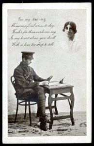 dc1918 - BRITISH MILITARY 1918 Sentimental. Soldier Mail