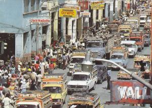 HAITI ; 60-80s ; Port-au-Prince: Street at Rush Hour