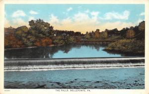 Bellefonte Pennsylvania~The Falls~Dam & Bridge~1915 Postcard