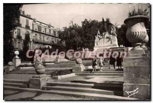 Old Postcard Beziers L'Escalier Monumental Giving Access mates