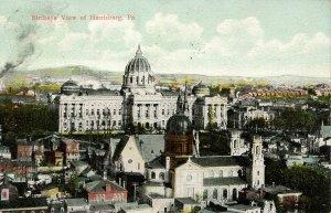 PA - Harrisburg. Bird's Eye View circa 1908
