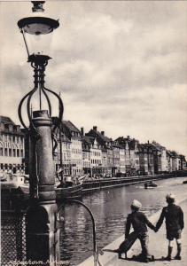 COPENHAGEN, Denmark, 1930-1940's; Nyhavn, Canal Scene