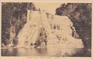 New York Ithaca Ithaca Falls Ithaca Gorge Albertype