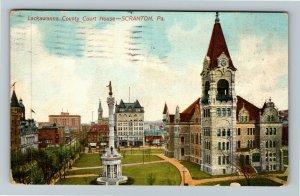 Scranton PA-Pennsylvania Lackawanna County Courthouse Vintage c1911 Postcard