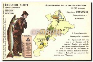 Postcard Old Scott Emulsion Department Haute-Garonne Toulouse St Gaudens