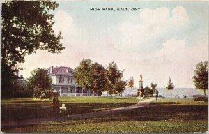 Galt Ontario High Park ON Ont. Unused Postcard F50
