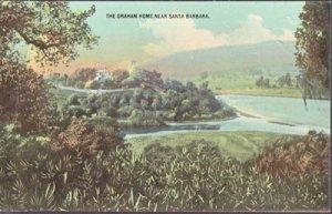 Santa Barbara CA - Oklahoma oilman William Miller Graham Home 1900s