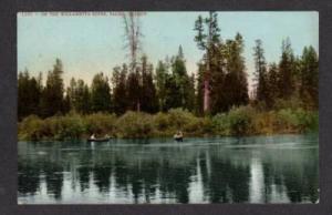 OR Willamette River Scene SALEM OREGON POSTCARD PC-OLD