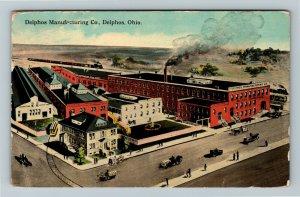 Delphos OH, Delphos Manufacturing Company, Vintage Ohio c1924 Postcard