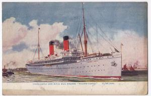 Union Castle Mail Steamer Walmer Castle RP PPC, 1914 London PMK From Passenger