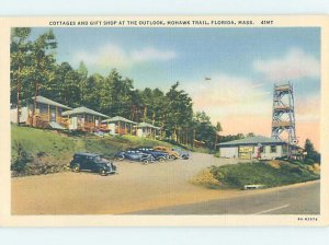 Linen TEXACO GAS STATION & FLORIDA SHOP by North Adams & Williamstown MA AE3048