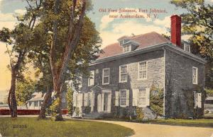 Amsterdam New York~O;d Fort Johnson~Stone Bldg w/Some Ivy~Postcard