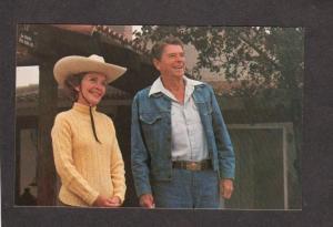 CA President Ronald Reagan Nancy Santa Barbara California Ranch Postcard