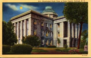 North Carolina Raleigh Illuminated View Of State Capitol Curteich
