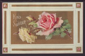 Kind Souvenir,Roses Postcard
