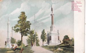 1901-07 Chattanooga TN Orchard Knob IL MD NY Monument Civil War Antique Postcard