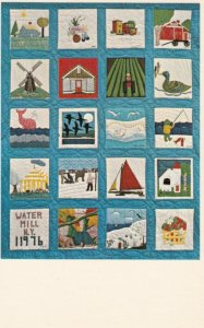 LONG ISLAND, New York, 1976; Water Mill Scenic Quilt at Old Water Mill Museum