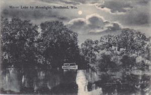 Mirror Lake by Moonlight, Brodhead, Wisconsin, PU-1908