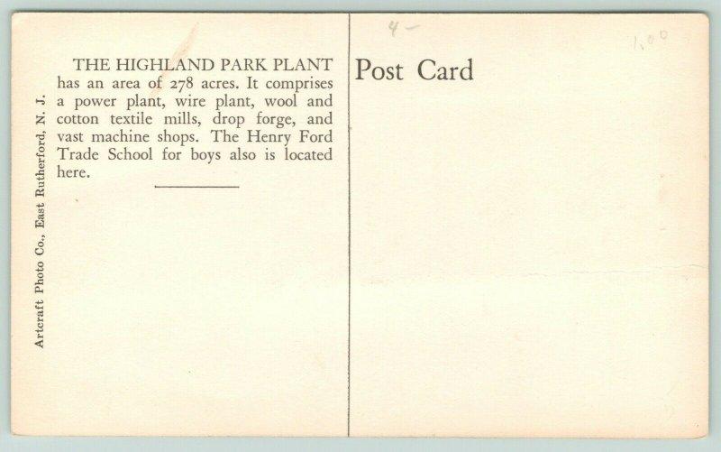 Highland Park MI 2nd Ford Model T Automobile Production Plant~RPPC c1910 Sepia