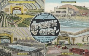 ATLANTIC CITY , New Jersey, 1930-40s ; 4 view w/ Ice Hockey