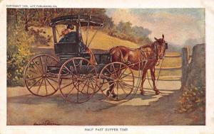Half Past Supper Time~Impatient Horse~Romance in Buggy~Life Series 1~Artist Sign