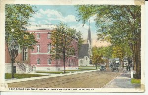 Brattleboro, Vt., Post Office and Court House, North Main Street
