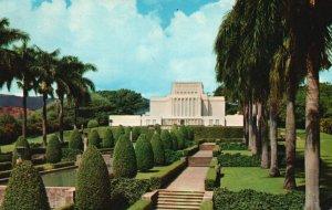 Laie, Oahu, HI, Latter Day Saints Hawaiian Temple, 1958 Chrome Postcard g8360