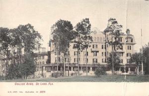 DeLand Florida College Arms Exterior View Antique Postcard J73894