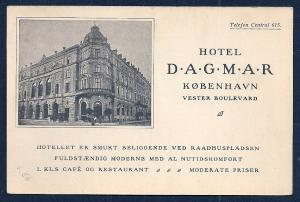 Hotel Dagmar Copenhagen Denmark unused c1920