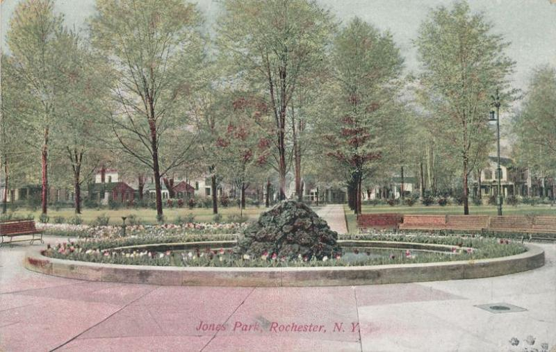 Flowers at Jones Park at Rochester, New York - pm 1909 - DB