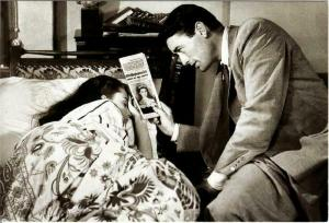 Audrey Hepburn and Gregory Peck in Roman Holiday Movie Postcard #2