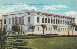 SAN FRANCISCO , California , 1900-10s; Public Library, Civic Center